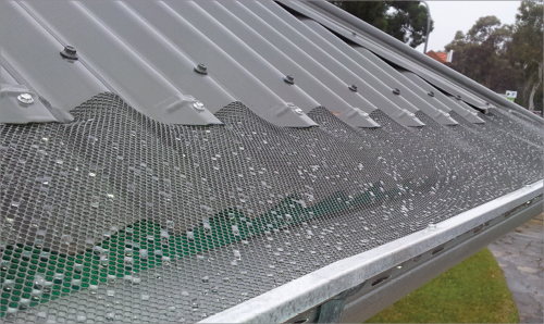 Gutter leaf screens are a mesh that stretches from the edge of the roof material to the outer lip of the gutter, preventing leaves and other debris from entering the guttering and downpipes.